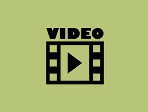 Grafik: Filmschnipsel mit Pfeil darin und darüber Schriftzug VIDEO